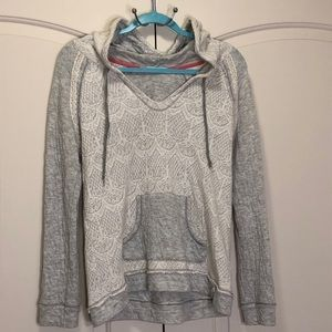 Maurices Women's Sweater Large Gray with Hood